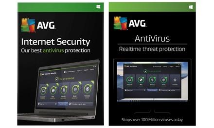 AVG anti virus of Internet Security 2018 voor drie computers voor 2 jaar