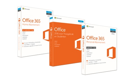 Microsoft Office pakketten voor pc, Mac, Android en iOS